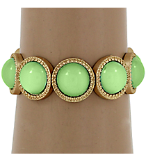 Mint Green Bubble Bead Stretch Bracelet #YJB1180-MGMN