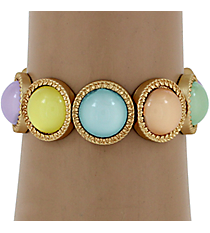 Multi-Color Bubble Bead Stretch Bracelet #YJB1180-MGMT