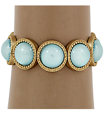 Turquoise Bubble Bead Stretch Bracelet #YJB1180-MGTQ