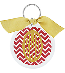 Chevron Round Acrylic Key Tag #991 *Choose Your Color