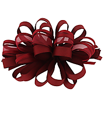 One Girl's Large Solid and Sheer Burgundy Hair Clippy #BW200BUY