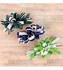 One Girl's Large Solid and Sheer Gameday Hair Bow #BW200JC-SHIPS ASSORTED
