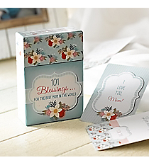 """""""101 Blessings For the Best Mom in the World"""" Promise Cards #BX093"""