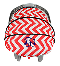 Red Chevron Baby Car Seat Cover #C131217-03