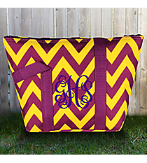 Purple and Yellow Chevron Insulated Lunch Bag #C15-601-PY