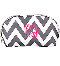 Gray Chevron 3-Piece Nesting Crescent Cosmetic Set #C3-601-GRAY