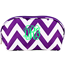 Dark Purple Chevron 3-Piece Nesting Crescent Cosmetic Set #C3-601-Z