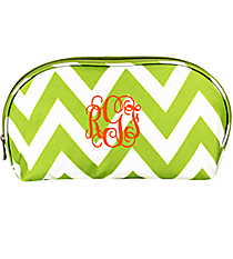 Light Green Chevron 3-Piece Nesting Crescent Cosmetic Set #C3-601-LG