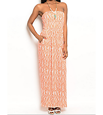 My Kind of Night Maxi Dress, Coral #C75-A-KD50204 *Choose Your Size