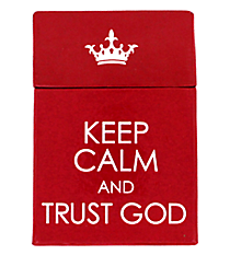 """Keep Calm and Trust God"" Promise Cards #BX086"