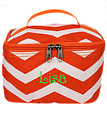 Orange and White Chevron Case #008-165-OR/W