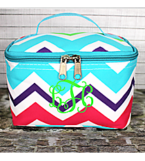 Multi-Chevron Case with Aqua Trim #HJQ277-AQUA