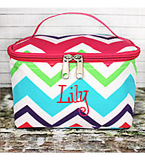 Multi-Chevron Case with Hot Pink Trim #HJQ277-H/PINK