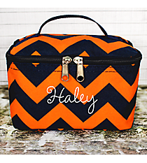 Navy and Orange Chevron Case #NRQ277-NAVY/OR