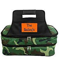 SALE! Army Camo Insulated Double Casserole Tote #ARM391-BLACK