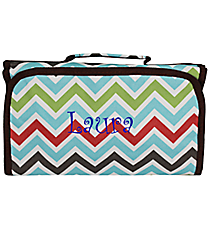 Multi-Color Chevron Roll Up Cosmetic Bag #CB-1323