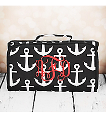 Black and Gray Anchor Roll Up Cosmetic Bag #CB-706