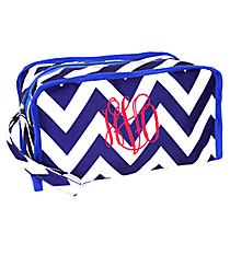 Blue Chevron Travel Bag #CB10-601-BLUE