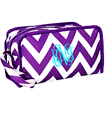 Dark Purple Chevron Travel Bag #CB10-601-Z