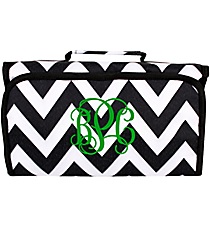 Black and White Chevron Roll Up Cosmetic Bag #CB-1324B