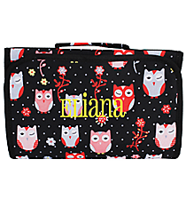 Hoot-Winked Clear-View Roll Up Cosmetic Bag #CB18-1321