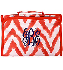 Red Airbrushed Chevron Clear-View Roll Up Cosmetic Bag #CB18-1330-2
