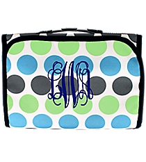 Tri-Colored Polka Dots Clear-View Roll Up Cosmetic Bag #CB18-1331-1