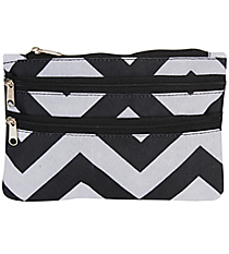Black and Gray Chevron Travel Pouch #CB2-1326