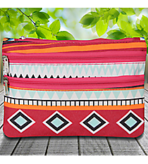 Pink Aztec Travel Pouch #CB2-705