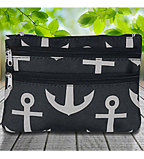 Black and Gray Anchor Travel Pouch #CB2-706
