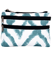 Blue Airbrushed Chevron Travel Pouch #CB2-1330-1