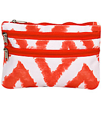 Red Airbrushed Chevron Travel Pouch #CB2-1330-2