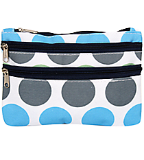 Tri-Colored Polka Dots Travel Pouch #CB2-1331-1