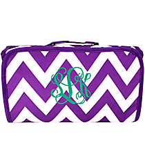Dark Purple Chevron Roll Up Cosmetic Bag #CB25-601-Z