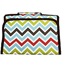 Multi-Color Chevron Small Roll Up Jewelry Bag #CB50-1323