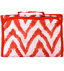 Red Airbrushed Chevron Small Roll Up Jewelry Bag #CB50-1330-2