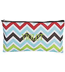 "Multi-Color Chevron 10"" Pouch #CB8-1323"