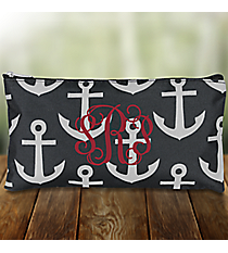 """Black and Gray Anchor 10"""" Pouch #CB8-706"""