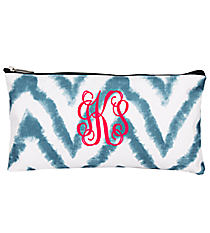 "Blue Airbrushed Chevron 10"" Pouch #CB8-1330-1"
