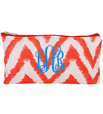 "Red Airbrushed Chevron 10"" Pouch #CB8-1330-2"