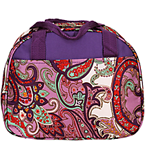 Purple Paisley Bowler Style Insulated Lunch Bag #CC20-513