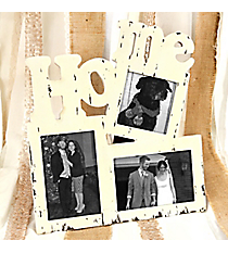 """Vintage """"Home"""" Triple Photo Frame #CFEM0008"""
