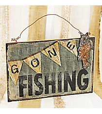 'Gone Fishing' Wall Decor Plaque #CFEM0222