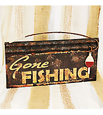 'Gone Fishing' Wall Sign #CFEM0226