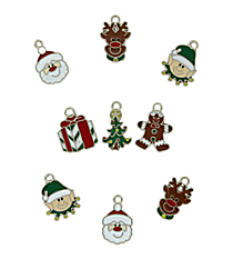 36 Happy Holidays Enamel Charms #48/9819