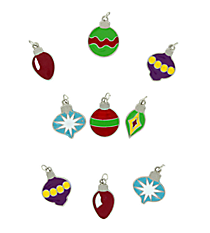 36 Ornament Enamel Charms #48/9820
