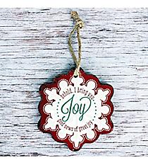 Joy Wooden Snowflake Ornament #CHR003