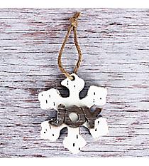 Wooden 'Joy' Snowflake Ornament #CHR006