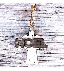Wooden 'Noel' Angel Ornament #CHR007