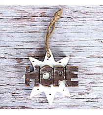 Wooden 'Hope' Star Ornament #CHR008